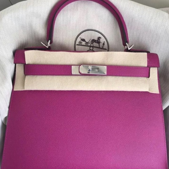 Hermes Bags Herms Kelly 28 Rose Pourpre Phw Read Description